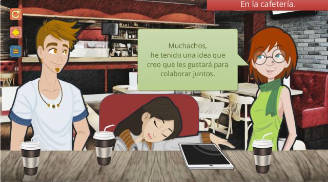 Fotograma de la Misión 5 de «Spanish.org»